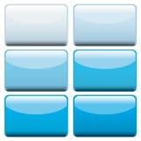 Botones azules del Web Fotografía de archivo