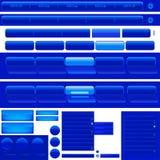 Botones azules del Web libre illustration