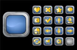 Botones azules del Web Foto de archivo