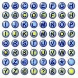 Botones azules del Web del lLetter Foto de archivo
