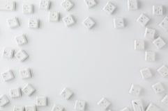 Botones blancos del teclado Imágenes de archivo libres de regalías