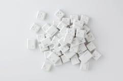 Botones blancos del teclado Imagen de archivo