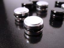 Botones blancos y negros Imagenes de archivo