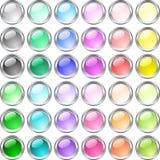 Botones brillantes. Imagenes de archivo