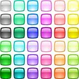 Botones brillantes. Fotos de archivo libres de regalías