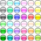 Botones brillantes. Fotos de archivo
