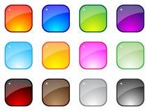Botones brillantes Stock de ilustración