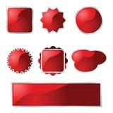 Botones brillantes ilustración del vector