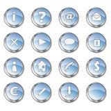 Botones brillantes azules agradables Fotos de archivo