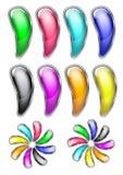 Botones brillantes coloreados para el Web site Foto de archivo libre de regalías