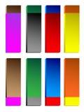 Botones brillantes coloridos Imagen de archivo libre de regalías