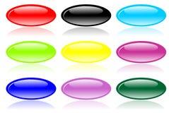 Botones brillantes de la elipse Fotografía de archivo libre de regalías