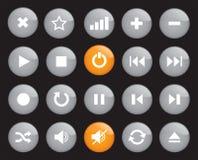 Botones brillantes de Media Player Fotografía de archivo