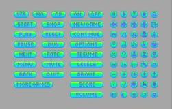 Botones brillantes del arte del pixel Imágenes de archivo libres de regalías