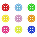 Botones brillantes del color Fije de los botones para la ropa Ilustración del vector EPS 10 stock de ilustración