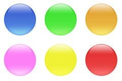 Botones brillantes del cristal del caramelo Imagen de archivo