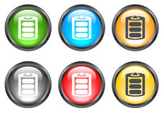 Botones brillantes del Internet Imagenes de archivo