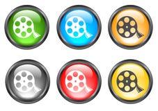 Botones brillantes del Internet Foto de archivo