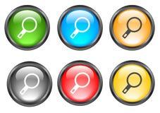 Botones brillantes del Internet Imagen de archivo libre de regalías