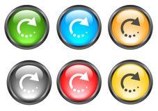 Botones brillantes del Internet Imágenes de archivo libres de regalías