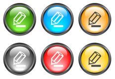 Botones brillantes del Internet Imagen de archivo