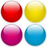 Botones brillantes del orbe Fotos de archivo libres de regalías