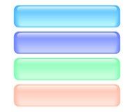 Botones brillantes del rectángulo Fotografía de archivo libre de regalías