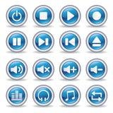 botones brillantes del reproductor multimedia Imagenes de archivo
