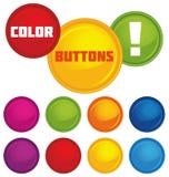Botones brillantes del vector Foto de archivo libre de regalías