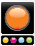 Botones brillantes del vector Imágenes de archivo libres de regalías