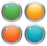 Botones brillantes del vector. Imagen de archivo