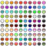 Botones brillantes del Web Imagen de archivo libre de regalías