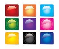 Botones brillantes del Web Imagenes de archivo