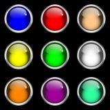 Botones brillantes del Web del gel Imagenes de archivo
