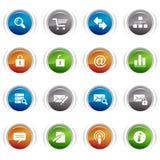 Botones brillantes - iconos clásicos del Web Fotografía de archivo libre de regalías