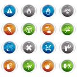 Botones brillantes - iconos de cuidado Fotos de archivo