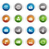 Botones brillantes - iconos de la oficina y del asunto Imagen de archivo libre de regalías