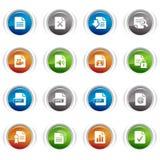 Botones brillantes - iconos del formato de archivo Fotos de archivo