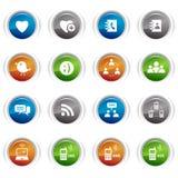 Botones brillantes - iconos sociales de los media Imagen de archivo libre de regalías