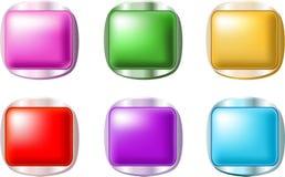 Botones brillantes lisos Imagen de archivo