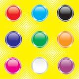 Botones brillantes para el diseño de Web Imagen de archivo libre de regalías