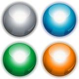 Botones brillantes redondos stock de ilustración