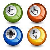 Botones brillantes redondos con estilo Imagenes de archivo