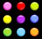 Botones brillantes simples Imagen de archivo