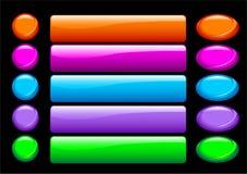 Botones brillantes simples Imagenes de archivo