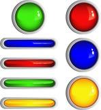 Botones brillantes simples Imagen de archivo libre de regalías