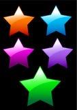 Botones brillantes simples de las estrellas Imagen de archivo
