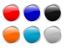 Botones brillantes vacíos stock de ilustración