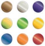 Botones brillantes vibrantes Imágenes de archivo libres de regalías