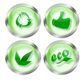 Botones cómodos del icono de Eco Imágenes de archivo libres de regalías